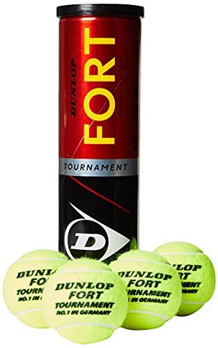 Dunlop Tennisbal Fort Tournament – voor zand, hardveld en gazon (1 x 4-delige doos)