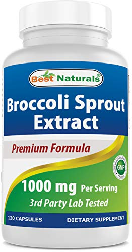 Best Naturals Broccoli Sprouts Extract, 1000 mg, 120 Count