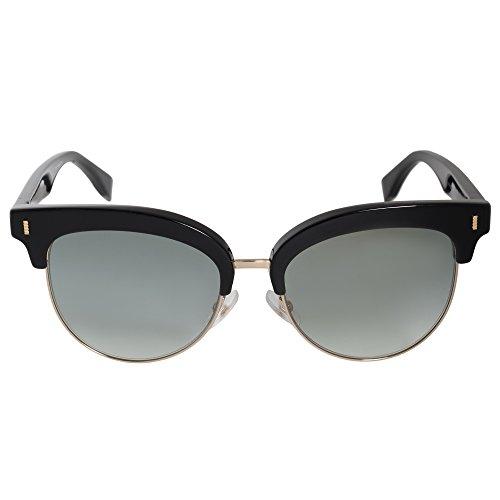 FENDI FF 0154/S EZ VJG Gafas de sol, Negro (Black/Green Sf Flsgun), 54 para Mujer