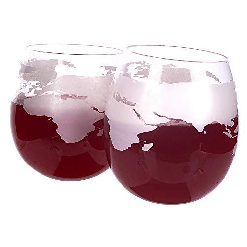 Verres Whisky Brandy Cognac Bascule Fond Rond