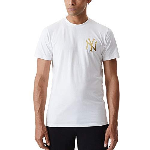 New Era Camiseta de Manga Corta Modelo Metalic tee NEYYAN Marca