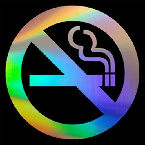 SUPERSTICKI Niet roken tekenen 15 cm Oilslick sticker hologram hologram film sticker autosticker, wandtattoo professionele kwaliteit voor lak, ruit, etc. Wasstraatbestendig