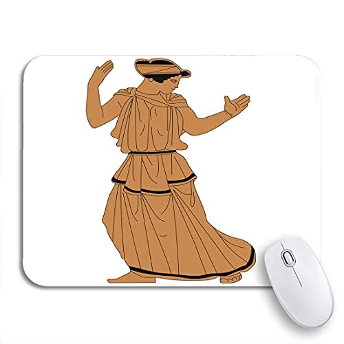 Gaming mouse pad brown of ancient greek woman based on authentic red nonslip rubber backing computer mousepad for notebooks mouse mats