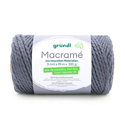 Gründl 4889-06 - Hilo macramé (95 m), color gris
