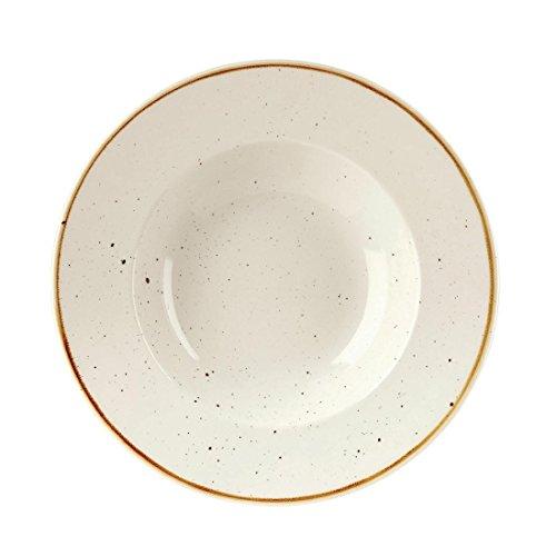 Churchill Stonecast - Cuencos redondos (240 mm), color blanco