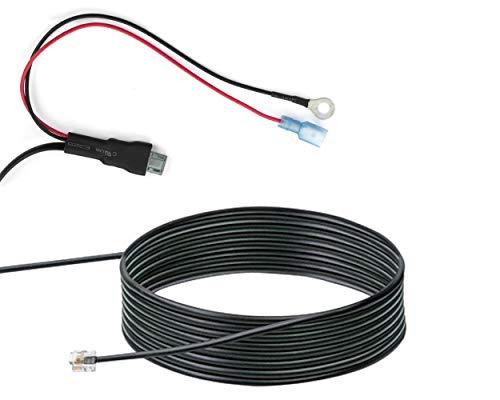 Cable para montaje fijo NAVTY P1 – Compatible con Genevo Max, Escort, Valentine One, Uniden, Beltronics, Radar, Avisador de radares, Avisador de radares,