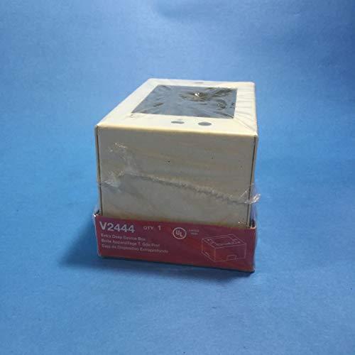 Wiremold V2444 - Caja para dispositivos de doble canal, acero marfil, para uso con rastrillo de doble canal serie 2400