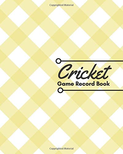 Cricket Game Record Book: Unique Cricket Scoring Sheet, Score Sheet Notebook for Outdoor Games, Gifts for Players, Cricket Bowlers, Game lovers, ... with 110 Pages. (Cricket Scorebook, Band 1)