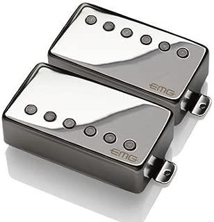 EMG James Hetfield JH Humbucker Pickup Set Black Chrome 3707.00 w/Bonus RIS Pick (x1) 654330214271