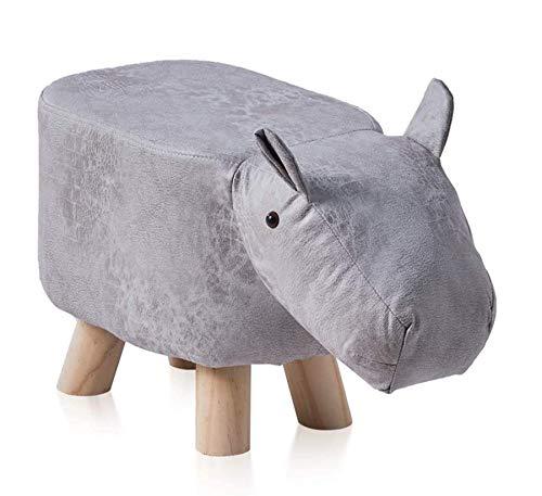 FZYE Repose-Pieds en Forme d'hippopotame Pouf Ottoman rembourré Chaise de Repos Siège de canapé pour Enfants et Adultes avec Pieds Solides Support Tabouret décoratif pour n'importe...