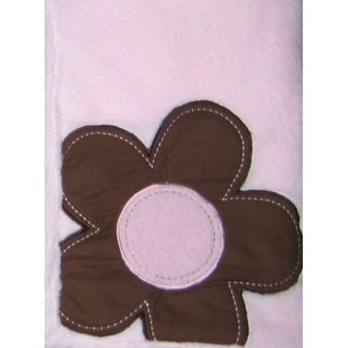 Mod Pod Pop Daisy Boa Baby Blanket Pink and Brown