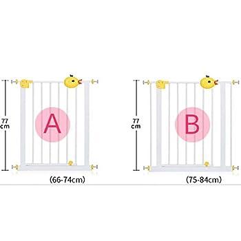 ZEMIN Barriere Securite Porte Escalier Bebe La Sécurité des Enfants Porte Arrière Rail Porte Automatique Pet Rampe D'escalier Double Serrure Robuste Et Durable (Color : Yellow, Size : 126-135cm)