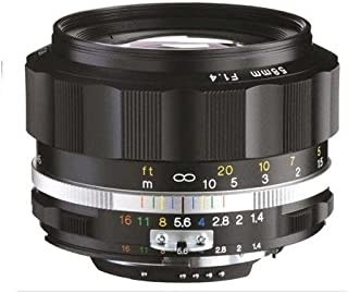 Voigtlander Nokton 58mm f/1.4 SL II S AI-S Lens, Black