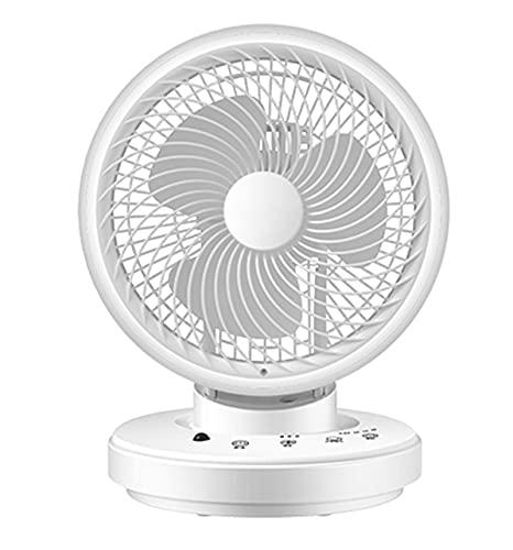 Slscyx Ventilador de 10 Pulgadas, Ventilador de Escritorio de 3 velocidades de enfriamiento, Ventilador de Escritorio de Control Remoto, para el hogar de Oficina