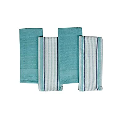 Kitchen Towels, Pack of 4, 100% Pure Cotton, 15 x23 , Kitchen towels by Vollmond