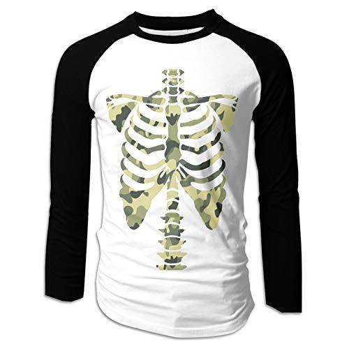 3D Print Skull Mens Boy Long Sleeve Tee Sports T Shirt Casual(Small,Black)