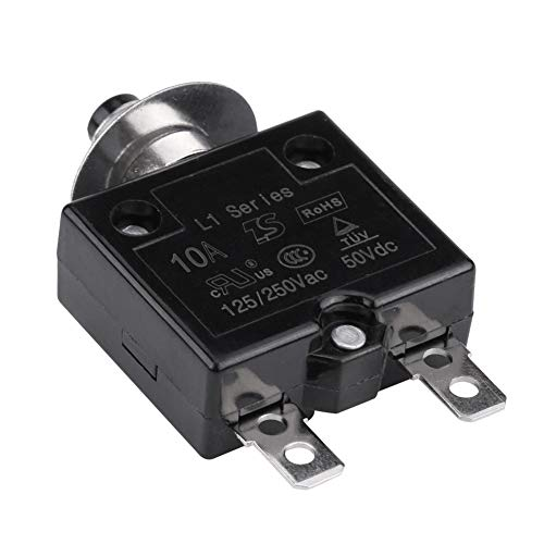 Disyuntor térmico, reinicio manual Interruptor de botón térmico Interruptor automático Sobrecorriente Protector de sobrecarga(10 A)