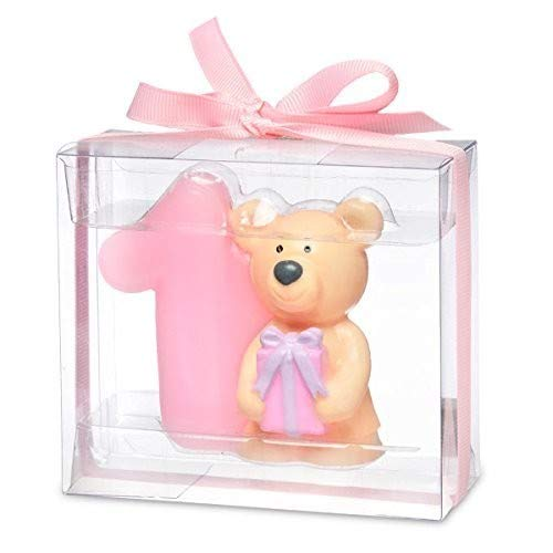 Club Green Teddy Bär mit Nr. 1, Pink, 80x 35x 70cm