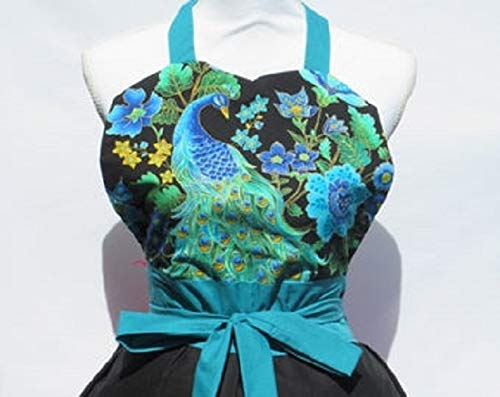 Teal Peacock 35% OFF Sweetheart Apron Some reservation