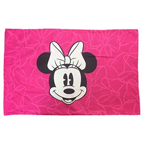 Franco Minnie Mouse Gris et Rose Taie d'oreiller réversible (Standard)