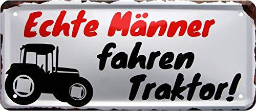 Rahmenlos 1363 Plaque métallique décorative pour Homme 28 x 12 cm