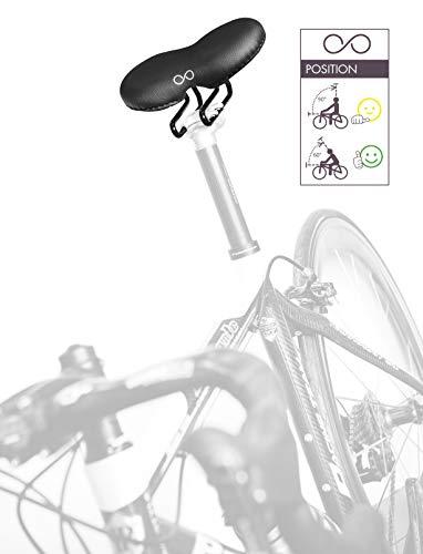 sellOttO Giro - Sillín cómodo Gel Hombre Mujer, Ninguna presión en Zona genital - Ideal para Bicicleta Eléctrica, Plegable, Piñón Fijo, MTB, Carrera