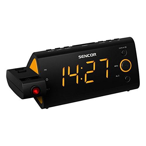 Sencor SRC330 Radiowecker Uhrenradio Wecker Radio Alarm (Orange)