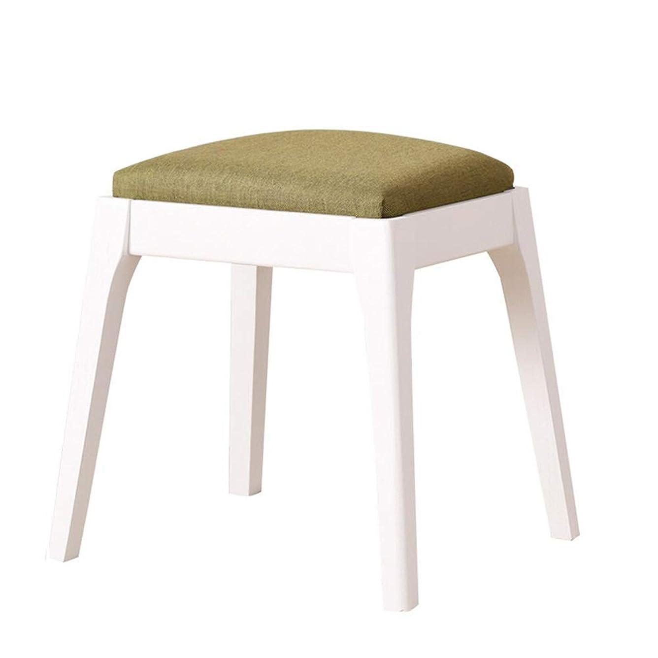 急いで友だちアミューズメントドレッシングスツール ベッドルームのバスルームにゴムの木張りの椅子と足の後にカントリースタイルのドレッシングルームのメイクアップ化粧スツールスツールピアノ椅子 リビング ルーム ベッドルーム ドレッシング ルーム用 (Color : A3, S...