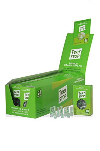 Teer Stop Premium Zigarettenfilter für Raucher - Box (720)