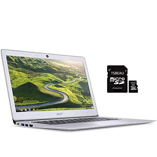 Acer CB3 14' FHD Chromebook, Intel Celeron N3160 Processor 1.6GHz, 4GB LPDDR3 RAM, 16GB eMMC, Intel HD Graphics, Bluetooth, Webcam, Chrome OS + TSBEAU 16GB Micro SD Card Bundle