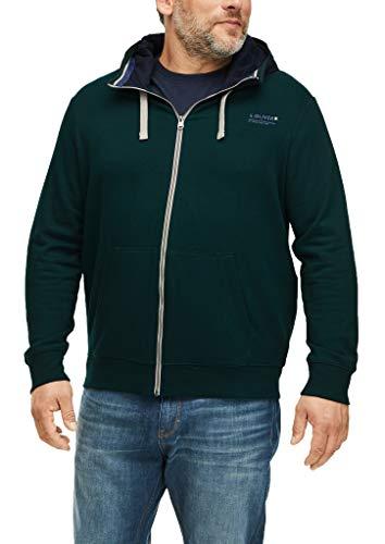 s.Oliver Big Size Herren 131.10.009.14.150.2060231 Pullover, Dark Green, 4XL