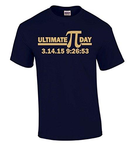 Raxo Ultimate Pi día Camiseta Oro Logo 2015Geeky Nerd Camiseta de Regalo de Profesor de matemáticas