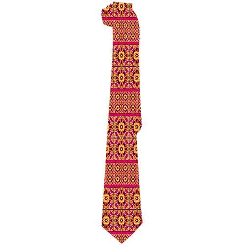 Mathillda heren stropdas Talavera tegel Vibrant Mexica Classic stropdassen uniek geschenk stropdassen