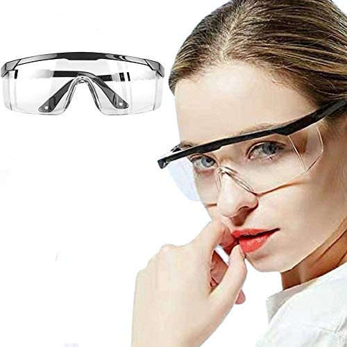 Gafas Protectoras, Lentes de Seguridad Antivaho Prueba de Rayos UV Prueba de Impacto Arena a Prueba de Viento para Laboratorio Agricultura Industria 🔥