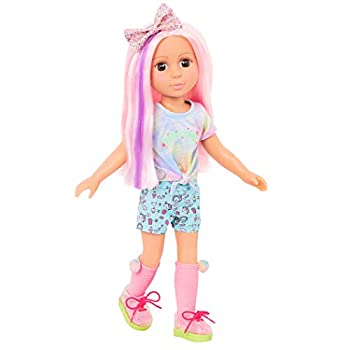 Glitter Girls Dolls by Battat – Posable 14-inch Doll Nixie with Hair Extension & Hair Bow Hair Clips and Colorful Outfit – Toys Clothes and Accessories for Kids Ages 3 and Up