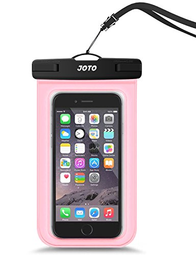 JOTO Universal Waterproof Pouch Cellphone Dry Bag Case for iPhone 11 Pro Max XS Max XR XS X 8 7 6S Plus, Galaxy S10 Plus S10e S9 Plus S8 + Note 10+ 10 9 8, Pixel 4 XL 3a 2 up to 6.8' –Clearpink