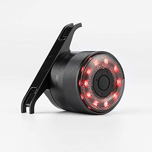 Dabeigouztoud linterna frontal, Luz de cola de bicicleta USB USB ACCESORIOS DE LED traseros recargables Se puede instalar adecuados para: Bicicleta, Salida de negro Tamaño: 6.4 * 0.9 * 3 * 3.4cm