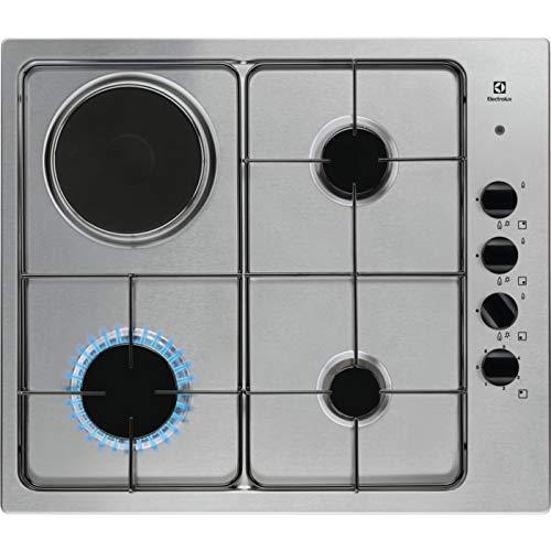 Electrolux - Piano cottura misto EGL 62821 OX finitura inox e manopole nere da 60 cm
