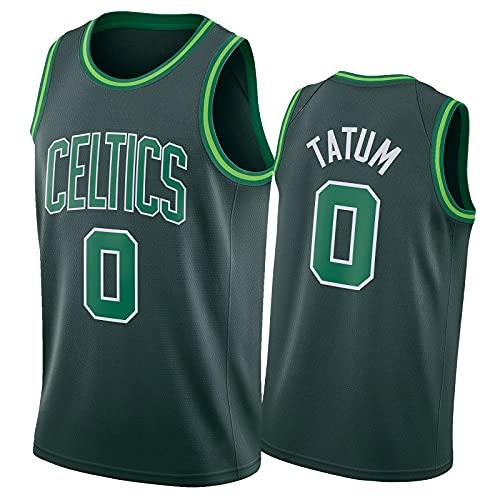Jayson Tatum Trikot Boston Celtics #0 Herren Atmungsaktiv Mesh Stickerei Logo Basketball Jersey,Fans Sport Beiläufig Trainingsuniform,S-2XL 2021 Earned Edition-M