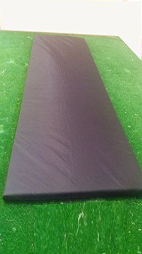 KosiPad Memory Foam Waterproof Replacement Cushion Pad For Garden Sun Lounger/Recliner/Chair (BLACK LGER)