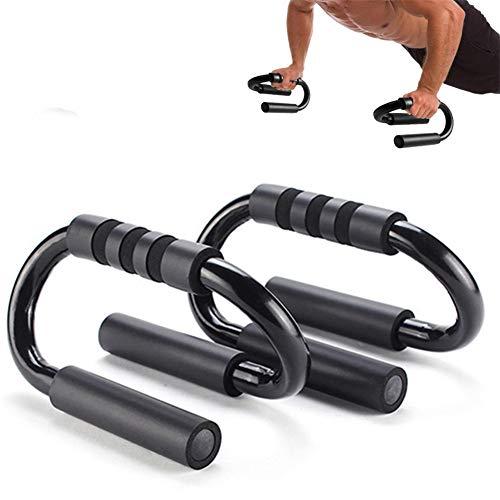 WESDOO Liegestütze Griffe Liegestützgriffe Kernübungsgeräte Griffe hochdrücken Bodybuilding für Sportler Heimfitnessgeräte Push Up Bar Stands Black,freesizze