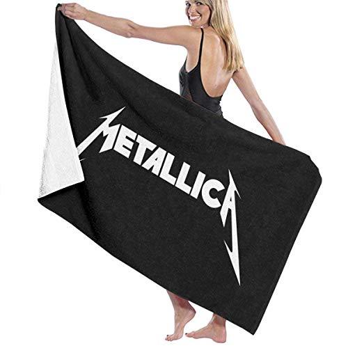 FSTGFFST - Toalla de playa/baño/pícnic de microfibra ultraabsorbente con diseño de Metallica para hombres, mujeres y niños