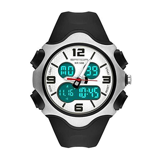 AYDQC Los Hombres de los Relojes del dial Grande, Impermeable Deportes Relojes electrónicos, Ocio al Aire Libre Relojes de los Deportes, for Hombre, Mujeres, Estudiantes D fengong (Color : A)
