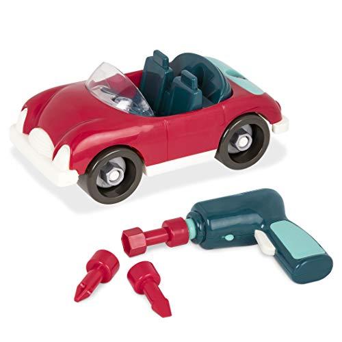 Battat BT2520Z – Sportwagen Konstruktionsspielzeug ab 3 Jahren – Sport Auto zum Auseinander und Zusammenbauen funktionsfähigem Akkuschrauber – Spielzeug für Kinder ab 3 Jahren (22 Teile)