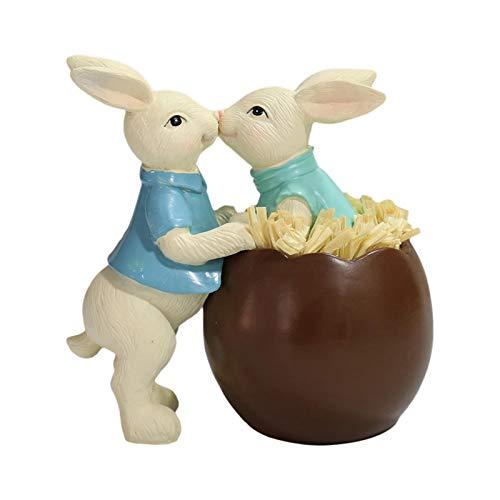 Coniglietto Pasquale Decorativo, Ornamenti di Uova di Pasqua, Decorazione da tavolo dell'ornamento del coniglietto del guscio d'uovo del cioccolato di Pasqua