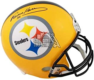Franco Harris Autographed Signed Pittsburgh Steelers Gold Full -Size Football Helmet JSA