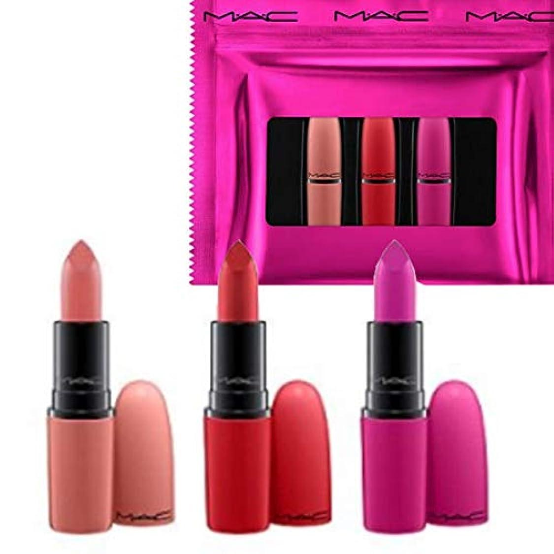 基礎租界ポスト印象派M.A.C ?マック, Limited Edition 限定版, 3-Pc. Shiny Pretty Things Lip Set - Russian Red/Kinda Sexy/Flat Out Fabulous [海外直送品] [並行輸入品]
