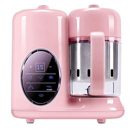 TWW Máquina De Alimentos Complementaria para Niños Y Niños Que Cocinan Máquina De Cocción Integrada Máquina Multifunción para Mezclar Y Triturar Pasta De Arroz Molinillo De Alimentos,Rosado