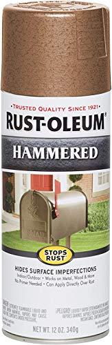 Rust-Oleum 210849 Stops Rust Hammered Spray Paint, 12 Oz, Copper, 12 Fl Oz