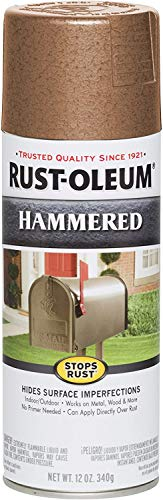 Rust-Oleum 210849 Hammered Metal Finish Spray, Copper, 12-Ounce